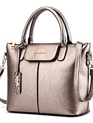 Women's Fashion Vintage Solid PU Leather Messenger Shoulder Bag/Tote