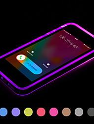 llamada llevó a parpadear caso de la cubierta de TPU transparente para el iphone 6 más (colores surtidos)