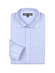 JamesEarl Hommes Col de Chemise Manche Longues Shirt et Chemisier Bleu - DA112030404