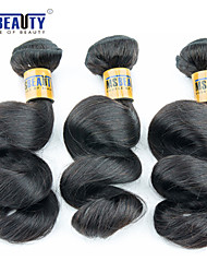 """3 unidades / lote 8 """"-28"""" 6a malaio virgens soltos extensões de cabelo de onda de 100% cabelo humano virgem não transformados tece"""