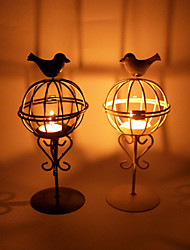 Valentine'S Day Creative Romantic Wedding Arts Crafts Gift Europe Type Cage Wrought Iron Candlestick