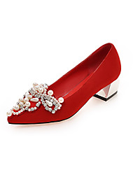 Women's Shoes Fleece / Leatherette Chunky Heel Heels Heels Office & Career / Party & Evening / Dress