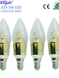 Luces LED en Vela Decorativa YouOKLight C35 E14 5W 25 SMD 2835 450 LM Blanco Cálido AC 100-240 / AC 110-130 V 4 piezas