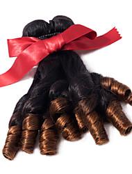 Ombre Aunty Funmi Hair 3 Bundles Brazilian Virgin Funmi Curly Hair Weave T1B/30 Two Tone Remy Funmi Bouncy Curls Hair