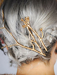 Women's Simple Retro Alloy Tree Branches Pattern Hair Clips Hairpin Hair Accessories 1pc