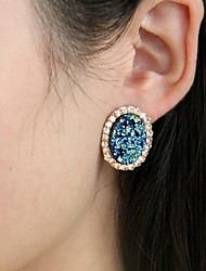 Gold Earring Stud Earrings Wedding / Party / Casual 2pcs