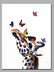 Peint à la main AnimalModern Un Panneau Toile Peinture à l'huile Hang-peint For Décoration d'intérieur