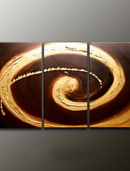 Hand-Painted Abstract Modern Oil Painting , Canvas Three Panels