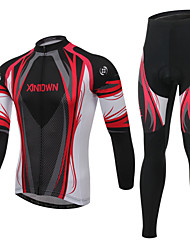 Men's Cycling Clothing Sets Fashion Create a God Red Styles Pattern Bicycle Sports Comfortable Long  Cycling Jersey