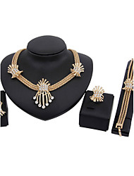 Gold-plated Fashion trendy (Including Necklace, Earring, Bracelet) Jewelry Sets