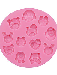 Cartoon Baby/Animal Baking Mold Fondant Cake Silicone Mold Fondant Decoration Tool Silicone Chocolate Mould SM-057