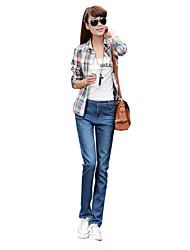 Pantalon Aux femmes Décontracté / Simple / Vacances / Mignon Coton