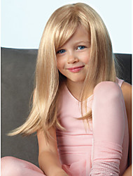 Lovely Children Straight Hair Long Blonde Color Synthetic Wigs