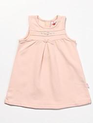 Girl's Pink Dress,Lace Cotton All Seasons