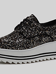 Women's Shoes Glitter Platform Creepers Heels Office & Career / Party & Evening / Dress / Casual Black