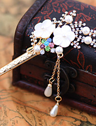 Z&X® Fashion Vintage Pearl Hair Sticks Wedding / Rhinestone Party / Daily 1pc