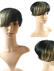 100% real el pelo humano brasileño pelucas rectas 1b / rubias pelucas glueless omber corto bob peluca sin encajes