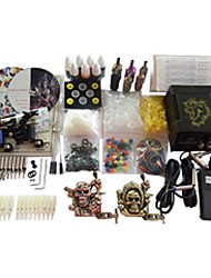 4 Guns BaseKey Tattoo Kit K402 Machine With Power Supply Grips Cups Needles(Ink not included)
