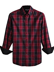 JamesEarl Herren Hemdkragen Lange Ärmel Shirt & Bluse Rot - DA112047201
