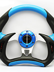 New Universal 320mm 13 Inch Car Auto Momo Modified PU+PVC Material Automobile Race Steering Wheel with Horn Button