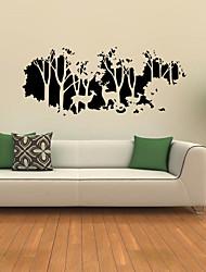 Животные / ботанический / Пейзаж Наклейки Простые наклейки,vinyl 58*126cm