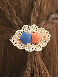 Set of 2 Candy Girl Sweet Style Flower Hair Barrette Hair Jewelry (Random Color)