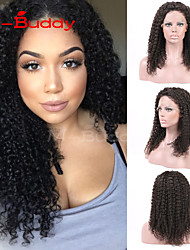 "8""-26"" Brazilian  Virgin Hair Kinky Curly  Full Lace Wig&Lace Front Wig Multicolor optional  With Baby Hair for  Women"
