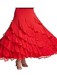 Moderner Tanz-Balletröckchen und Röcke(Schwarz Fuchsie Purpur Rot,Milchfieber,Moderner Tanz) - fürDamen Rock