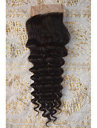 Full Lace / Hand Tied Deep Wave Human Hair Closure Medium Brown Korean Lace 20g-50g gram Average Cap Size