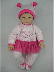 NPKDOLL Reborn Baby Doll Soft Silicone 22inch 55cm Magnetic Mouth Lifelike Cute Lovely Toy Girl Purple Dress