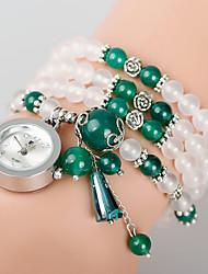 Bracelet naturelle de calcédoine agate enroulement poudre femmes montre-bracelet améthyste