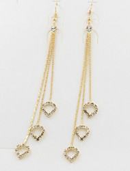 Rhinestone Heart Fashion Heart Gold Silver Jewelry