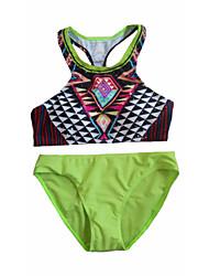 Women's Fashion Geometric Print Wireless Bikinis Swimwear
