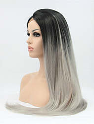 "18""-24"" Ombre Grey Human Hair Lace Wigs Brazilian Full Lace/Lace Front Grey Hair Wigs Human Hair Wig Fashion Women"
