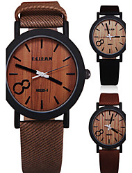 Simulation Wooden Relojes Quartz Men Or Women Watches Wooden Color Leather Strap Watch Wood Male Wristwatch Wrist Watch Cool Watch Unique Watch