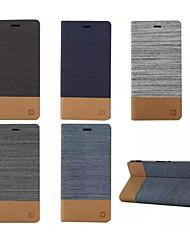 flip lujo del cuero de la lona con soporte de la ranura de tarjeta de la carpeta para Sony Xperia m2 / m4 / e4 / c4 / Z3 / Z4 / z3 Mini /
