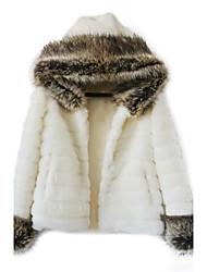 Belle manches longues capot en fausse fourrure Casual / Parti Jacket (plus de couleurs)
