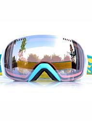 sensor de color marrón gafas de nieve esquí marco azul basto