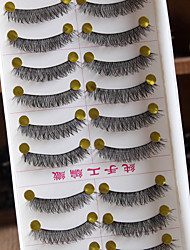 10 Pairs / Boxes Pure Manual False Eyelash Naked Makeup Eyelashes Cotton Black Terrier Supernatural Cross Section