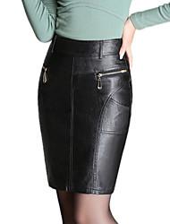 Women PU Skirt , Belt Not Included