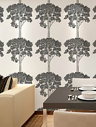 New Rainbow™ Trees/Leaves Wallpaper Contemporary Wall Covering , Non-woven Paper Modern Minimalist