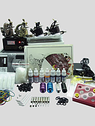 4 Guns BaseKey Tattoo Kit K406 Machine With Power Supply Grips Cups Needles(Ink not included)