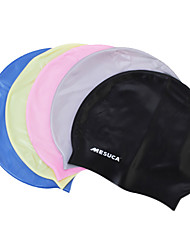 MESUCA® Solid Color Silicone Swimming Cap for Adult