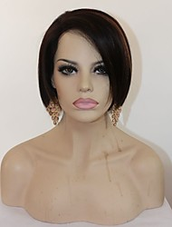 "8"" Human Hair Lace Front Wig Bob Wigs,Brazilian Hair Short Human Hair Wigs,Glueless Lace Front Human Hair Wigs"