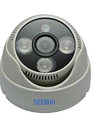 """seehoo® pd2139-4 1/4 """"CMOS 3,6 mm 900tvl 3pcs pal levou câmera dome CCTV utilizados interior"""