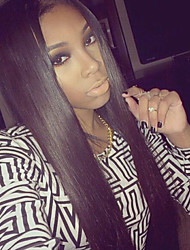 Top Quality Light Italian Yaki Full Lace Wig Yaki Straight Virgin Brazilian Human Hair Lace Front Wigs for Black Women