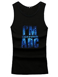 Men's Leisure And Sports Vest Sleeveless Printing Vest  Plus Sizes