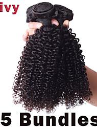 """vivy 8 """"-30"""" 5 fasci riccio crespo # 1b estensioni remy brasiliane dei capelli tessuto brasiliano vergini fascio di capelli umani"""