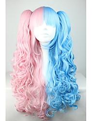 Lolita Wigs Sweet Lolita Lolita Long Pink Lolita Wig 70 CM Cosplay Wigs Patchwork Wig For Women