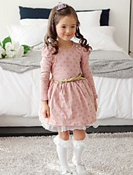 Girl's Dress,Cotton Spring / Fall Blue / Pink